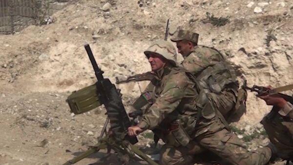 The Armed Forces of Azerbaijan are fighting in Nagorno-Karabakh - Sputnik International