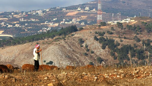 A picture taken on 26 August 2020 on the Lebanese side of the border with Israel, near an Israeli military post - Sputnik International