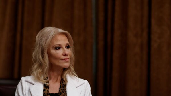 White House counselor Kellyanne Conway attends a roundtable discussion on America's seniors hosted by U.S. President Donald Trump in the Cabinet Room at the White House in Washington, U.S., June 15, 2020. - Sputnik International