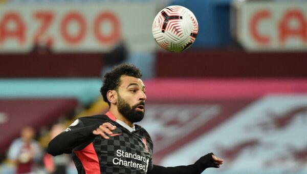 Liverpool's Mohamed Salah in action - Sputnik International