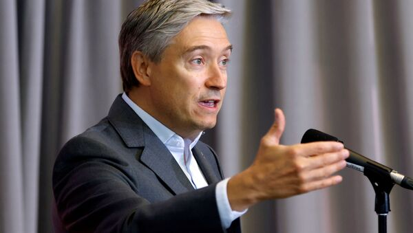 Canada's Minister of Foreign Affairs Francois-Philippe Champagne speaks to media at a cabinet retreat in Ottawa, Ontario, Canada September 14, 2020.  - Sputnik International