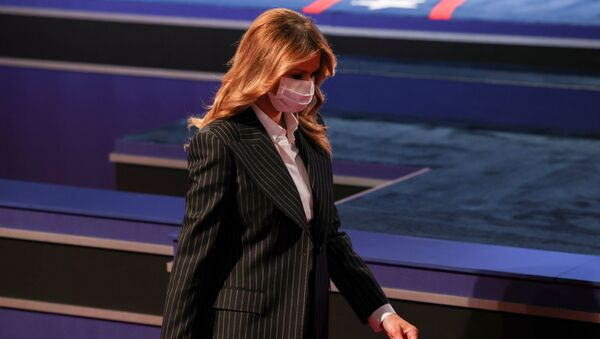 U.S. first lady Melania Trump arrives to the first 2020 presidential campaign debate between U.S. President Donald Trump and Democratic presidential nominee Joe Biden, held on the campus of the Cleveland Clinic at Case Western Reserve University in Cleveland, Ohio, U.S., September 29, 2020. - Sputnik International