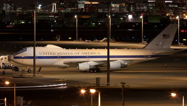 US Air Force E-4B Nightwatch spotted at Tokyo-Haneda Airport in Japan on January 13, 2011 - Sputnik International