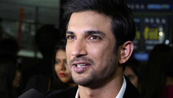 FILE PHOTO: Actor Sushant Singh talks to the media on the green carpet at the International Indian Film Academy Rocks show at MetLife Stadium in East Rutherford, New Jersey, U.S., July 14, 2017 - Sputnik International
