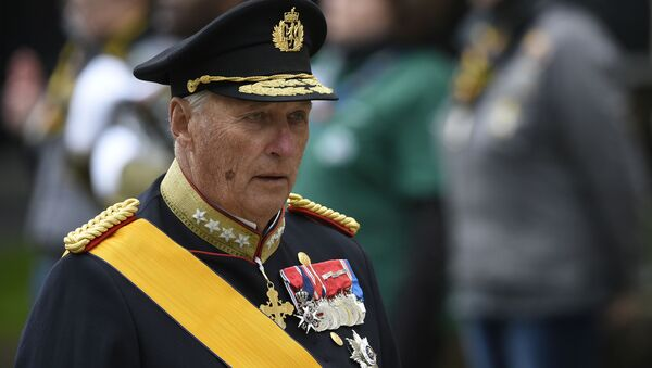 (FILES) This file photo taken on May 4, 2019 shows King Harald V of Norway arriving at Notre-Dame Cathedral in Luxembourg City, Grand Duchy of Luxembourg, ahead of the funeral ceremony for Jean d'Aviano, Grand Duke of Luxembourg. - Norway's 83-year-old King Harald V was admitted to hospital early on Friday, September 25, 2020, the palace said without disclosing details of his condition - Sputnik International