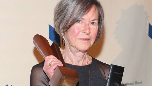 (FILES) This file photo taken on November 19, 2014 shows Louise Gluck attending the 2014 National Book Awards in New York City - Sputnik International