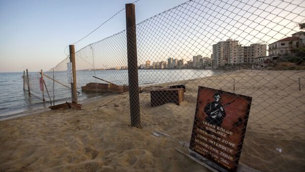 A view of deserted buildings of the tourist area of Varosha, in the fenced off area of Famagusta, in the Turkish-occupied north of the divided eastern Mediterranean island of Cyprus, on October 6, 2020 - Sputnik International