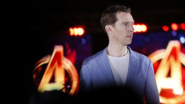 Benedict Cumberbatch, who plays Doctor Strange, attends Marvel's Avengers: Infinity War red carpet fan event in Singapore, Monday, April 16, 2018. - Sputnik International