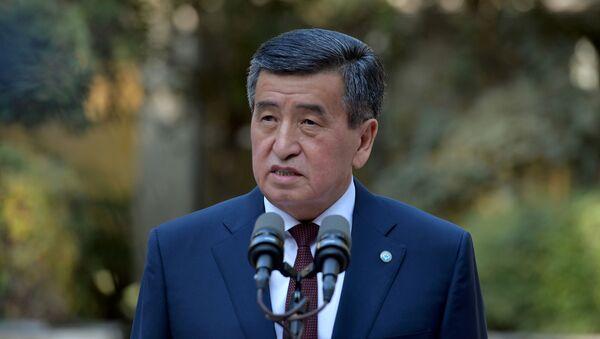 Kyrgyzstan's President Sooronbai Jeenbekov speaks after parliamentary elections in Bishkek, Kyrgyzstan 4 October 2020. - Sputnik International