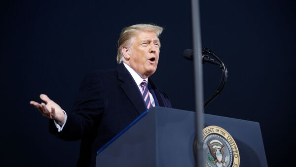 U.S. President Donald Trump speaks during a campaign rally in Moon Township, Pennsylvania, U.S., September 22, 2020.   REUTERS/Tom Brenner - Sputnik International