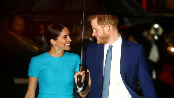 FILE PHOTO: Britain's Prince Harry and his wife Meghan, Duchess of Sussex, arrive at the Endeavour Fund Awards in London - Sputnik International
