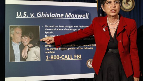 In this July 2, 2020 file photo, Audrey Strauss, Acting United States Attorney for the Southern District of New York, speaks during a news conference in New York, to announce charges against Ghislaine Maxwell for her alleged role in the sexual exploitation and abuse of multiple minor girls by Jeffrey Epstein - Sputnik International