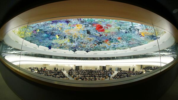FILE PHOTO: Overview of the session of the Human Rights Council during the speech of UN High Commissioner for Human Rights Michelle Bachelet at the United Nations in Geneva, Switzerland, 27 February 2020 - Sputnik International