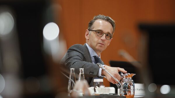 German Foreign Minister Heiko Maas attends the weekly cabinet meeting of the German government at the chancellery in Berlin, Germany, Wednesday, Oct. 7, 2020 - Sputnik International