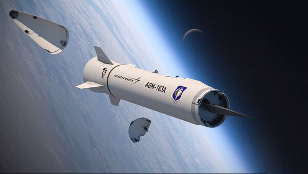 Rendering of an AGM-183A Air-launched Rapid Response Weapon (ARRW) showing its hypersonic glide warhead - Sputnik International