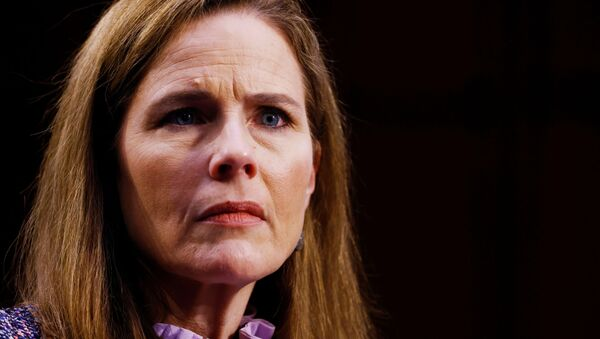 Judge Amy Coney Barrett attends the third day of her Senate confirmation hearing to the Supreme Court on Capitol Hill in Washington, DC, U.S., October 14, 2020 - Sputnik International
