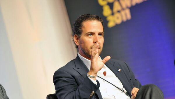 Hunter Biden attends Usher's New Look Foundation - World Leadership Conference & Awards 2011 - Day 3 at Cobb Energy Center on July 22, 2011 in Atlanta, Georgia.   Moses Robinson/Getty Images for Usher's New Look Foundation/AFP - Sputnik International