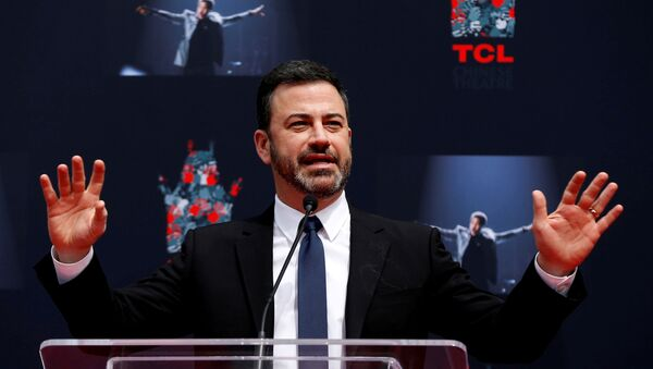 Television host Kimmel speaks at a ceremony for recording artist Lionel Richie to place his handprints and footprints in cement in the forecourt of the TCL Chinese theatre in Los Angeles - Sputnik International