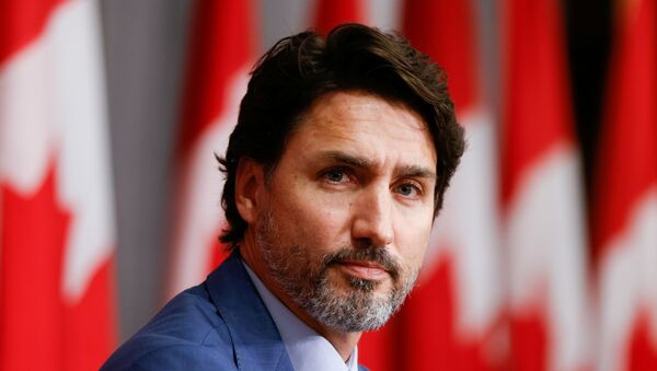 Canada's Prime Minister Justin Trudeau takes part in a news conference on Parliament Hill in Ottawa, Ontario, Canada September 25, 2020. - Sputnik International