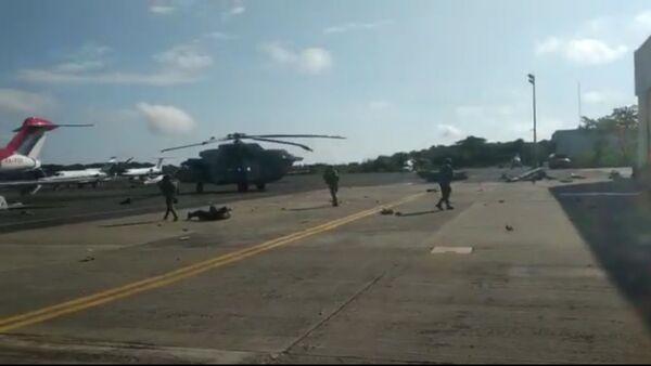 Aftermath of Mexican Mi-17 helicopter crash-landing  - Sputnik International
