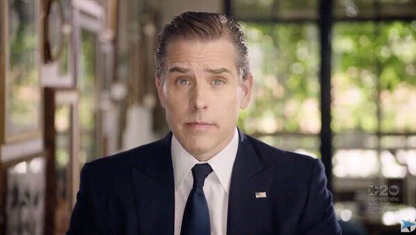 In this file video grab made on August 20, 2020 from the online broadcast of the Democratic National Convention, being held virtually amid the novel coronavirus pandemic, shows former vice-president and Democratic presidential nominee Joe Biden's son Hunter Biden speaking during the last day of the convention.  - Sputnik International