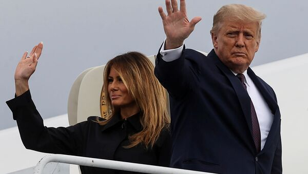 FILE PHOTO - US President Donald Trump and first lady Melania Trump board Air Force One after attending the 19th annual 11 September observance at the Flight 93 National Memorial as they depart John Murtha Johnstown-Cambria County Airport in Johnstown, Pennsylvania - Sputnik International