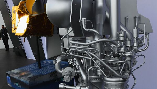 Model of the Prometheus cryogenic rocket engine at the Paris Air Show 2019 in France - Sputnik International