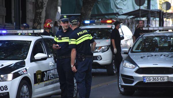 Police officers in the center of Tbilisi - Sputnik International