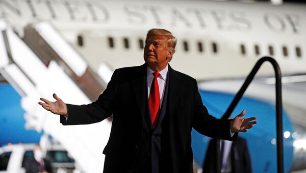 US President Donald Trump holds a campaign rally at Erie International Airport in Erie, Pennsylvania, 20 October 2020 - Sputnik International