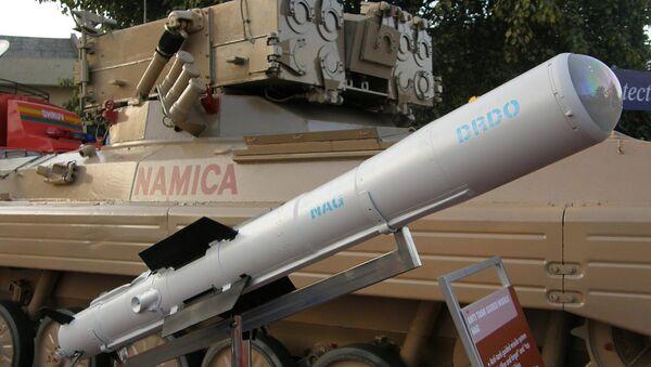 Nag missile and the Nag missile Carrier Vehicle (NAMICA) - Sputnik International