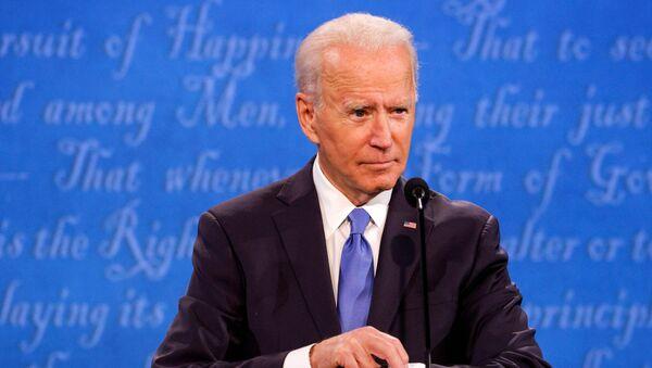 Democratic presidential nominee Joe Biden participates in the final 2020 U.S. presidential campaign debate with U.S. President Donald Trump, in the Curb Event Center at Belmont University in Nashville, Tennessee, U.S., October 22, 2020.  - Sputnik International