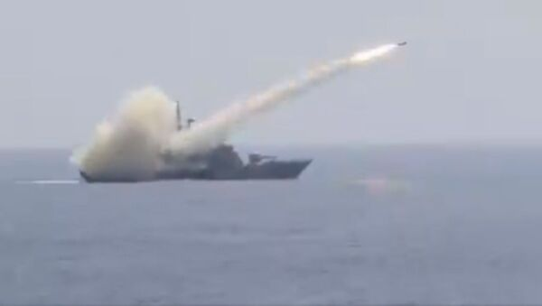 AShM launched by Indian Navy Missile Corvette INS Prabal, homes on with deadly accuracy at max range, sinking target ship - Sputnik International