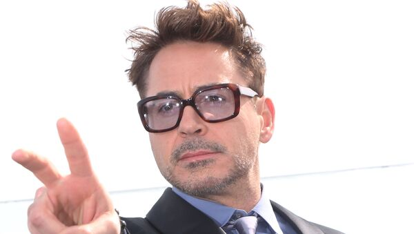 Robert Downey Jr., during a photocall for the Iron Man 3 movie, on the roof of the Ritz-Carlton hotel in Moscow - Sputnik International