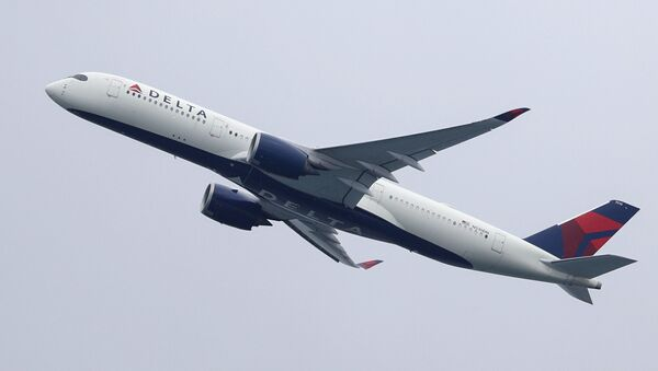 A Delta Air Lines Airbus A350-900 plane takes off from Sydney Airport in Sydney, Australia, October 28, 2020. - Sputnik International