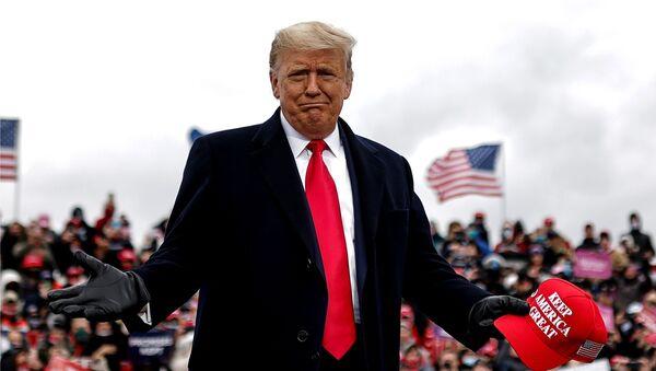 U.S. President Trump holds campaign rally in Waterford Township, Michigan - Sputnik International