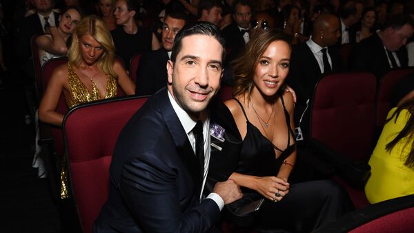 EXCLUSIVE - David Schwimmer, left, and Zoe Buckman appear in the audience at the 68th Primetime Emmy Awards on Sunday, Sept. 18, 2016, at the Microsoft Theater in Los Angeles - Sputnik International