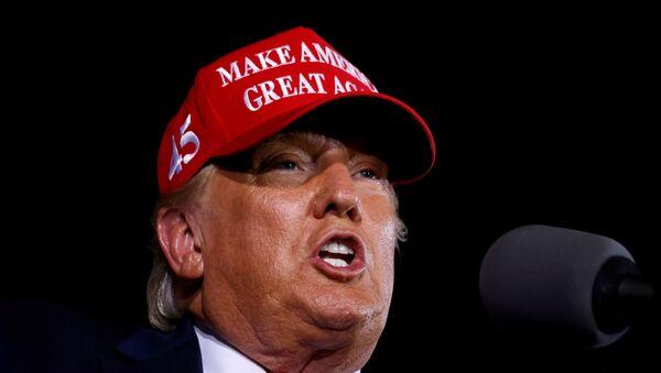 U.S. President Donald Trump speaks during a campaign rally at Miami-Opa Locka Executive Airport in Opa-Locka, Florida, U.S., November 2, 2020. REUTERS/Carlos Barria - Sputnik International
