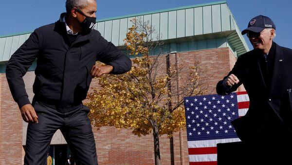 Democratic U.S. presidential nominee Biden campaigns in Flint, Michigan - Sputnik International