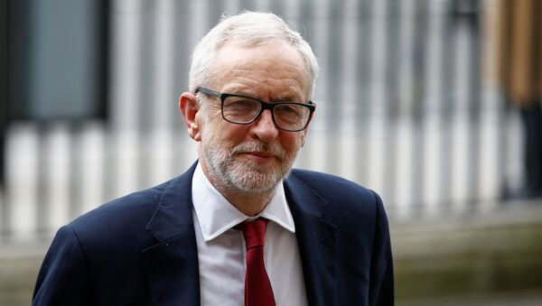 Britain's Labour Party leader Jeremy Corbyn arrives for the annual Commonwealth Service at Westminster Abbey in London, Britain March 9, 2020. - Sputnik International