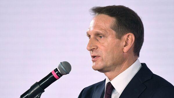 Russian Foreign Intelligence Service (SVR) Director Sergey Naryshkin - Sputnik International