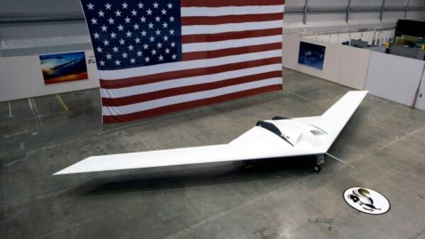 An image of the P-175 Polecat, a high-altitude unmanned aircraft demonstrator built by Lockheed Martin's Skunk Works. Its one flying model crashed in 2006. - Sputnik International