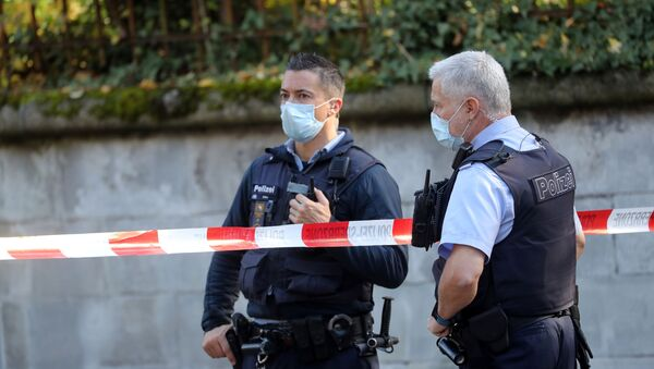 Police officers are seen near the French consulate in Zurich, Switzerland October 30, 2020.  - Sputnik International