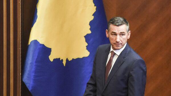Democratic Party of Kosovo (PDK) leader Kadri Veseli arrives for a session of Kosovo's parliament on September 7, 2017 in Pristina - Sputnik International