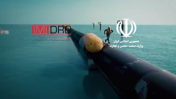 Screengrab from promotional clip for Iran's ambitious new water desalination and pipeline project. - Sputnik International