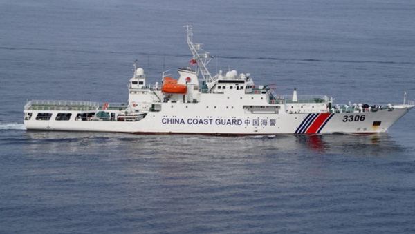 A China Coast Guard ship participates in the ASEAN Regional Forum (ARF) Disaster Relief Exercise (DiREx) 2015 in Penang, Northern Malaysia - Sputnik International