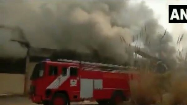 Fire breaks out at factory in Ghaziabad's Dasna - Sputnik International