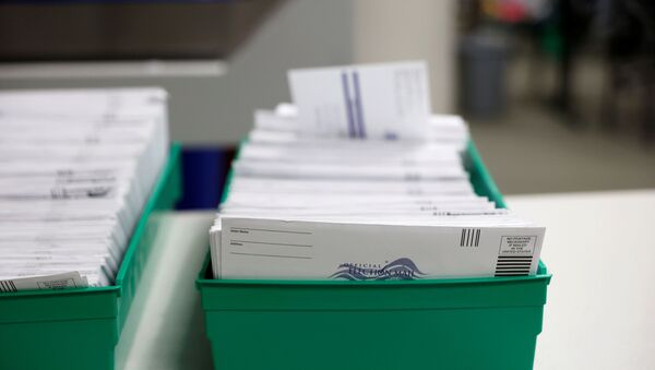 Mail-in ballots are pictured as they are counted in Lehigh County, Pennsylvania, U.S., November 4, 2020.  - Sputnik International