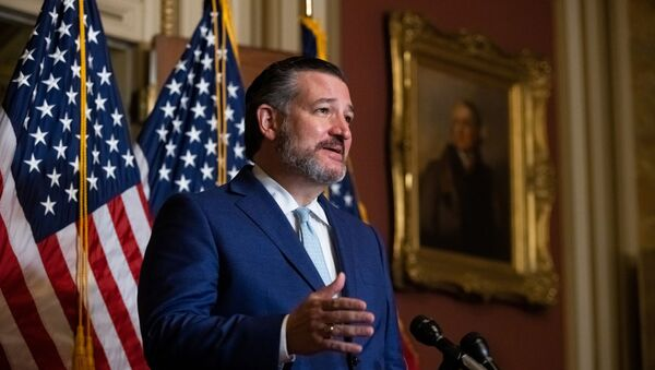 U.S. Senator Ted Cruz (R-TX) speaks during a news conference after U.S. President Donald Trump's Supreme Court nominee, Judge Amy Coney Barrett, was confirmed by the Senate as the latest Supreme Court Justice on Capitol Hill, in Washington, U.S., October 26, 2020 - Sputnik International