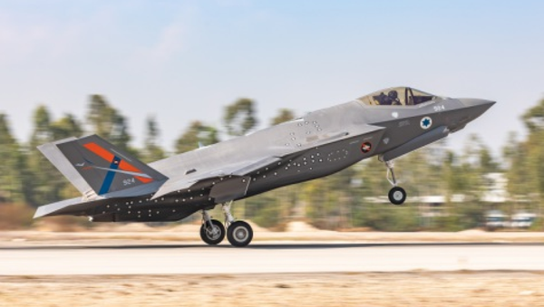 The first F-35I Adir test aircraft outside of the US landed at the Israeli AF Flight Test Center at Tel-Nof AFB on Nov. 11, 2020. It will be used to develop and test advanced capabilities that Israel alone is allowed to add to its fleet of F-35I fighters. - Sputnik International