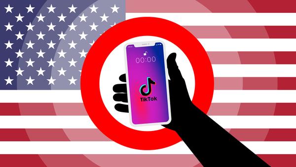 TikTok, US Flag - Sputnik International